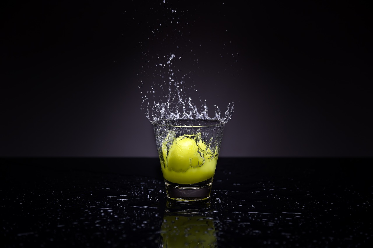 esempio splash photography con flash da studio