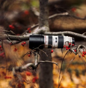un obiettivo fotografico da 70-200mm